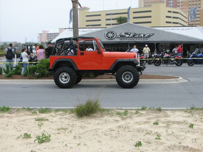jeep at thunder beach p.c. beach florida
