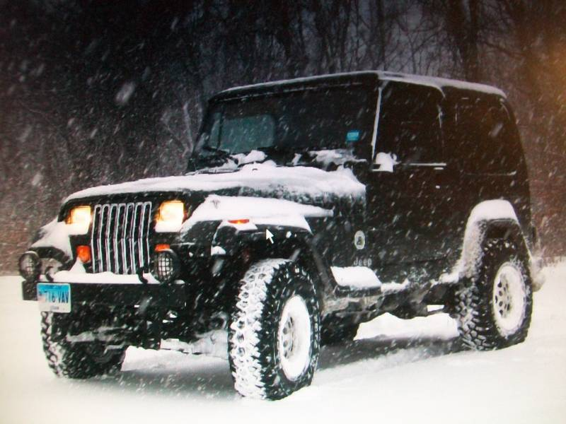 Snow jeep in ct