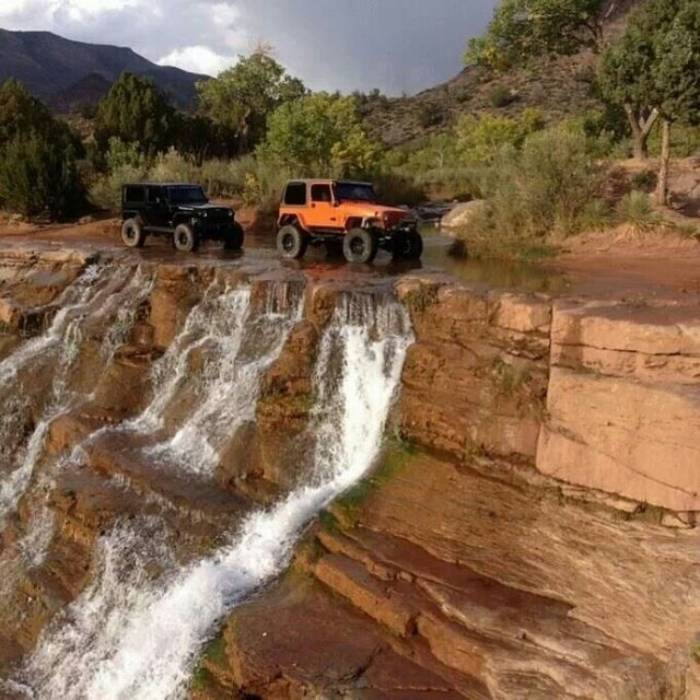 Jeep Waterfall